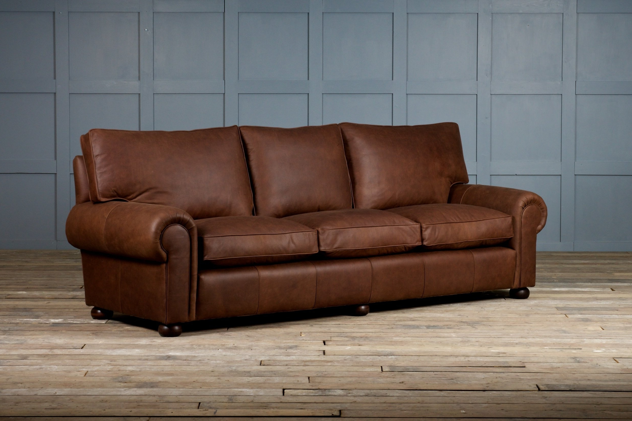Most Recent Full Grain Leather Sofas With Regard To Light Brown Full Grain Leather Corner Sofa Decor With Cushions As (View 19 of 20)