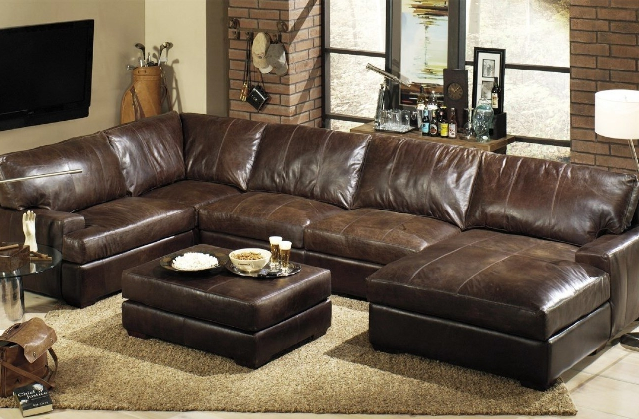 Most Recent Furniture : Elegant Navy Leather Sofa 36 Sofa Table Ideas With Inside Quincy Il Sectional Sofas (View 3 of 20)