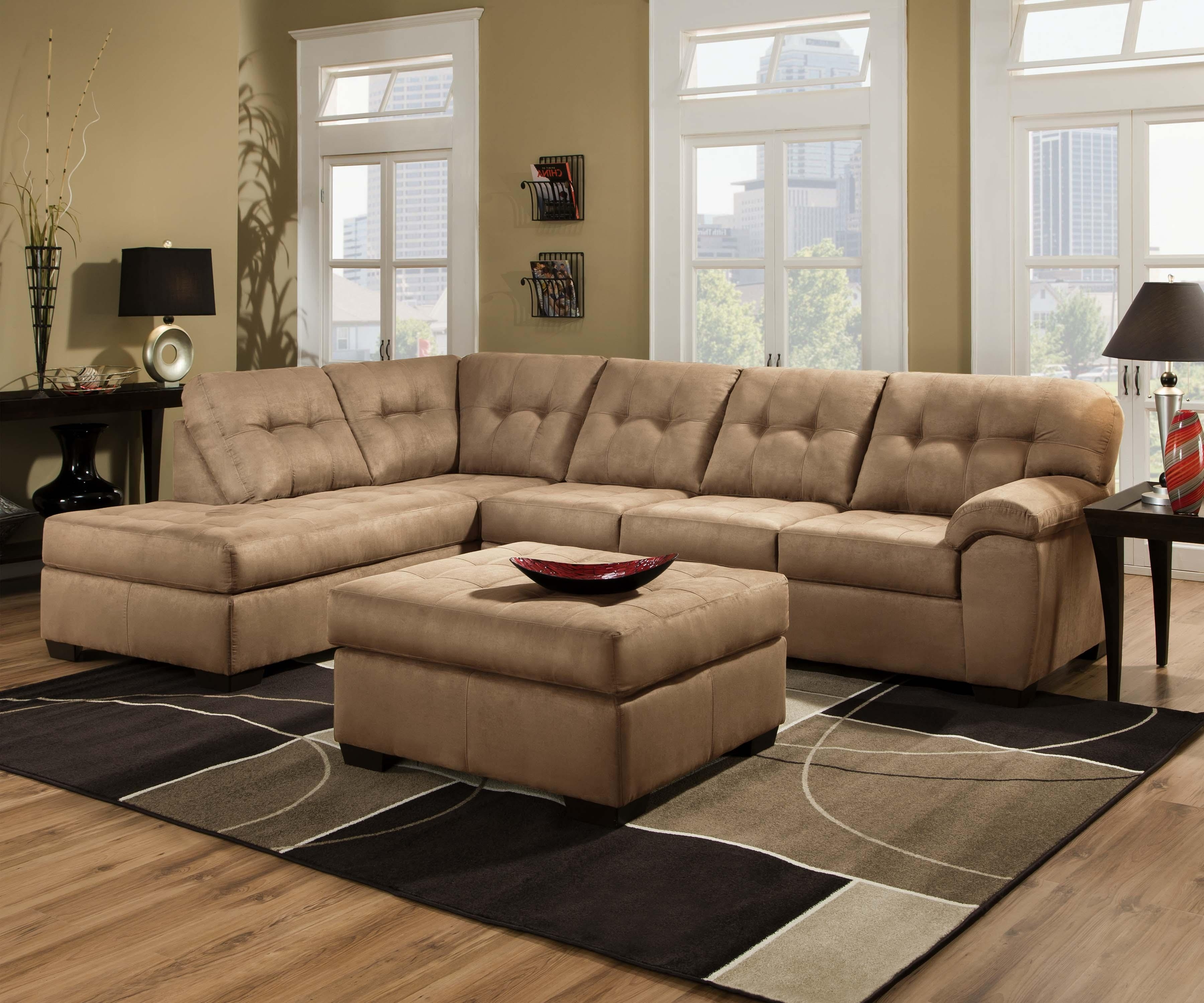 Most Recent Greenville Nc Sectional Sofas With Regard To United Furniture Industries 9558 Transitional 2 Piece Sectional (View 19 of 20)