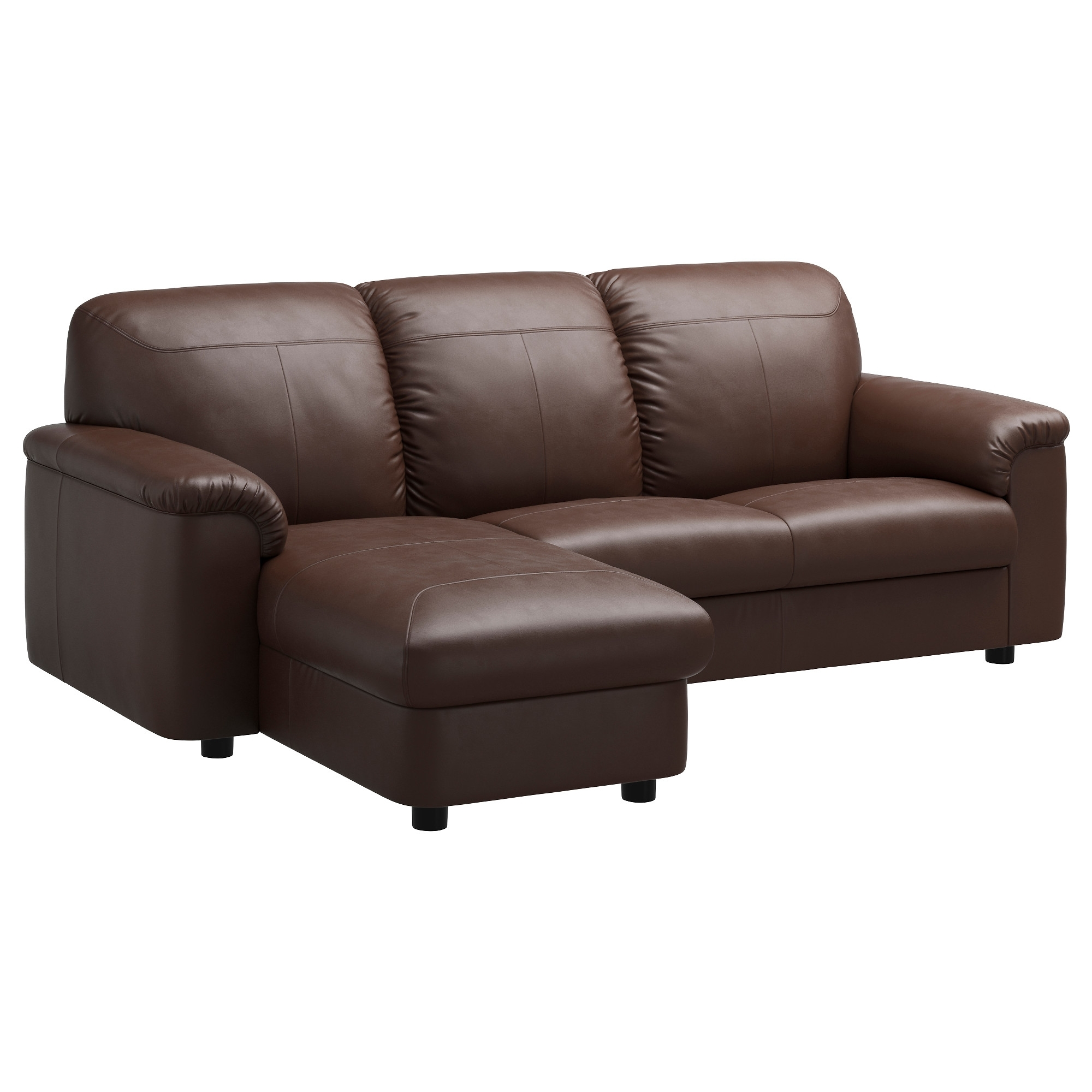 Most Recent Ikea Two Seater Sofas For Timsfors Sectional, 3 Seat – Mjuk/kimstad Dark Brown – Ikea (View 14 of 20)