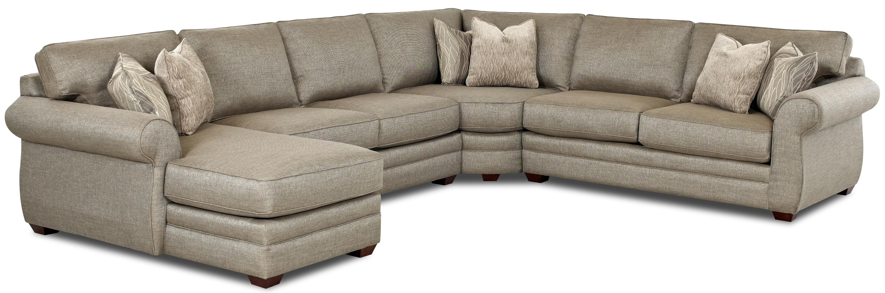Most Recent Killeen Tx Sectional Sofas Inside Klaussner Clanton Transitional Sectional Sofa With Right Chaise (View 8 of 20)