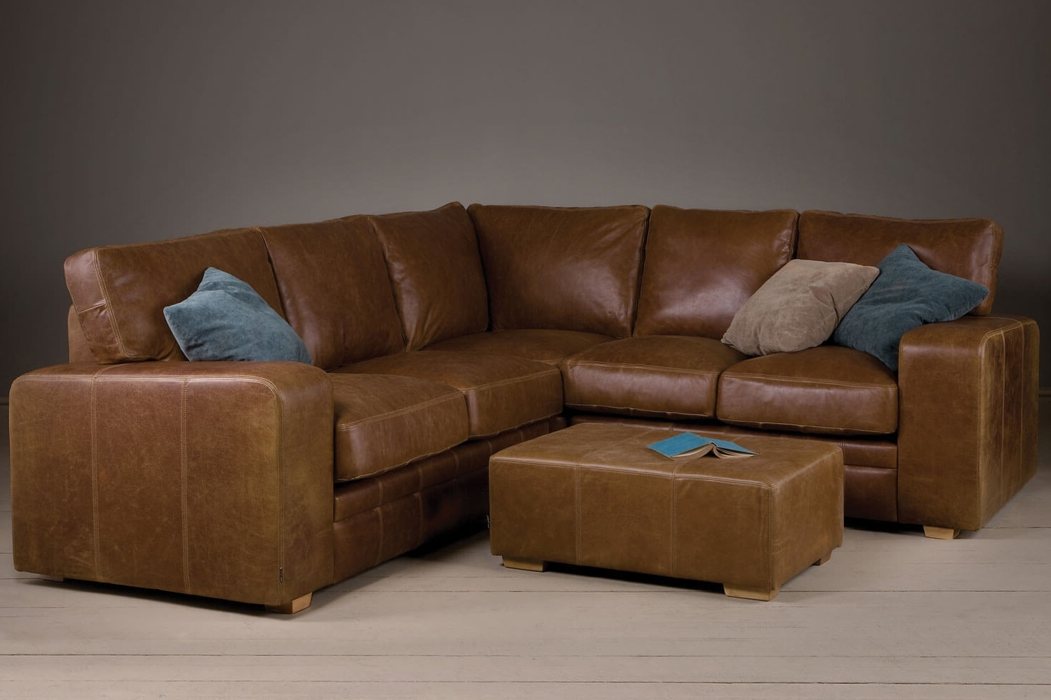 Most Recent Leather Corner Sofas Throughout Corner Sofas Handmade In Brown Leather & Fabrics (View 19 of 20)
