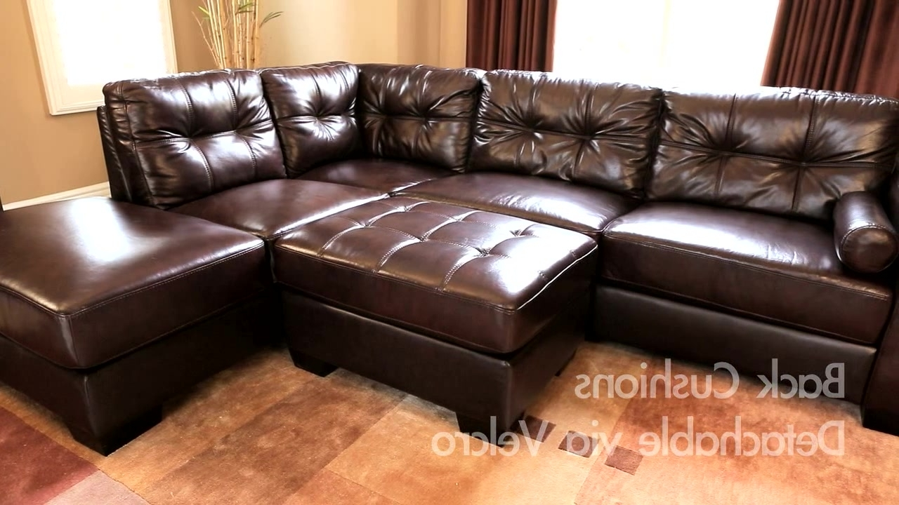 Most Recent Leather Sectionals With Ottoman In Landsford Leather Sectional And Ottoman – Video Gallery (View 15 of 20)