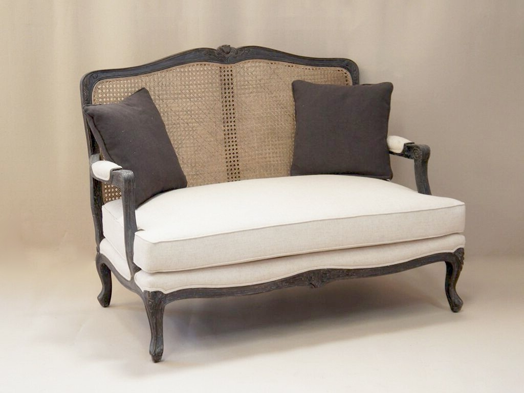 Most Recent Louis French 2 Seater Sofa With Rattan Back (View 13 of 20)
