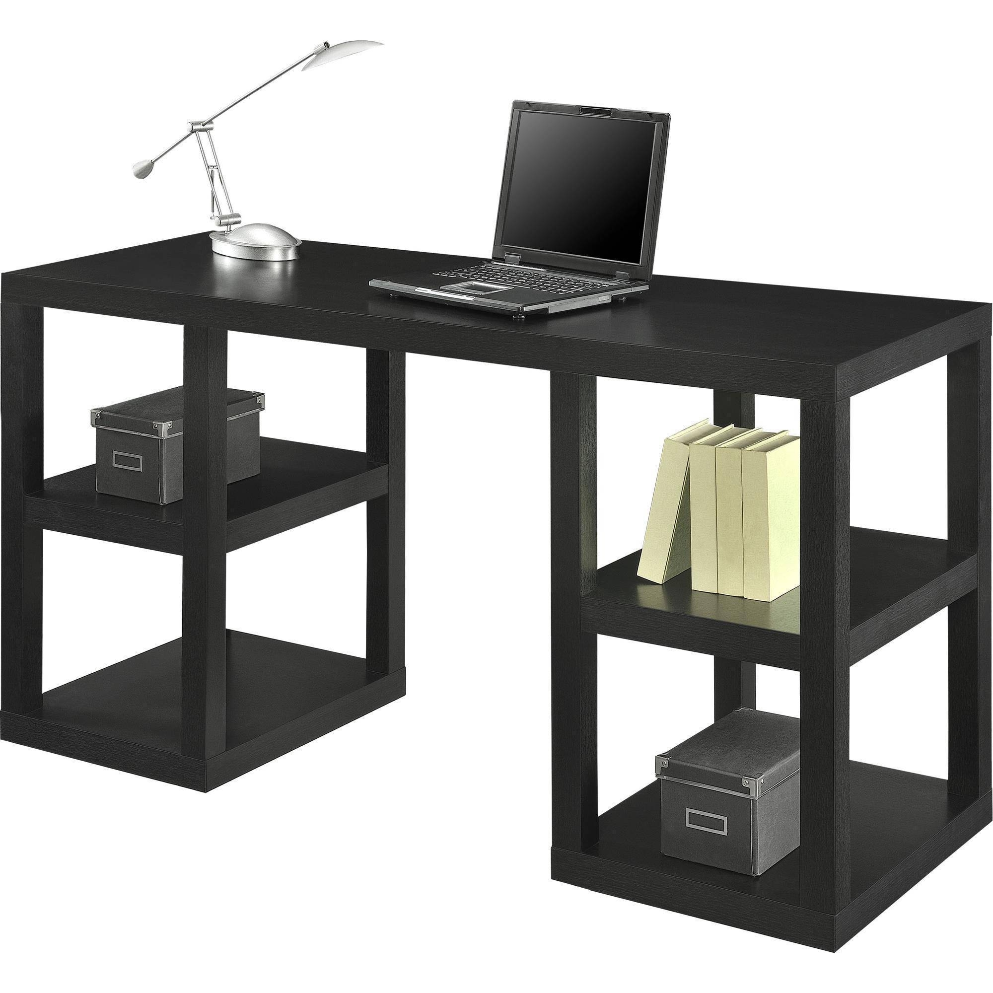 Most Recent Mainstays Double Pedestal Parsons Desk, Multiple Colors – Walmart For Computer Desks At Walmart (View 14 of 20)