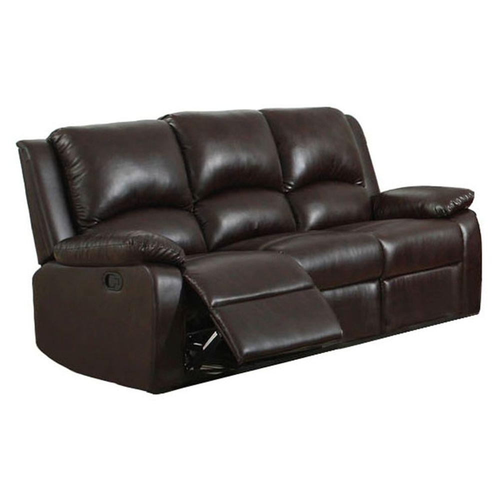 Most Recent Oxford Sofas With Furniture Of America Oxford Rustic Dark Brown Faux Leather Sofa (View 11 of 20)