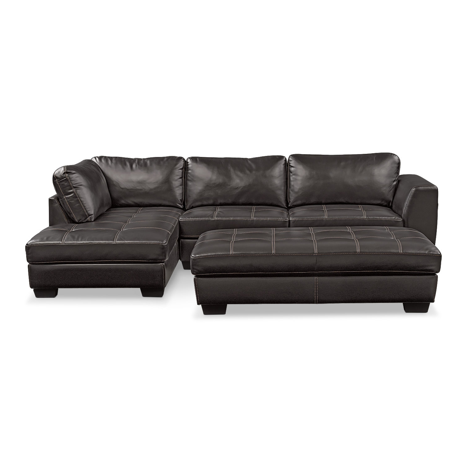 Most Recent Santana 2 Piece Sectional With Right Facing Chaise And Cocktail In Sectional Sofas With Chaise And Ottoman (View 9 of 20)