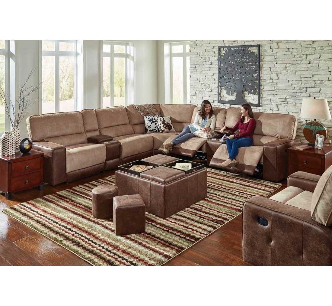 Most Recent Sectional Sofas At Badcock Within Pasadena 6 Pc Sectional (View 5 of 20)