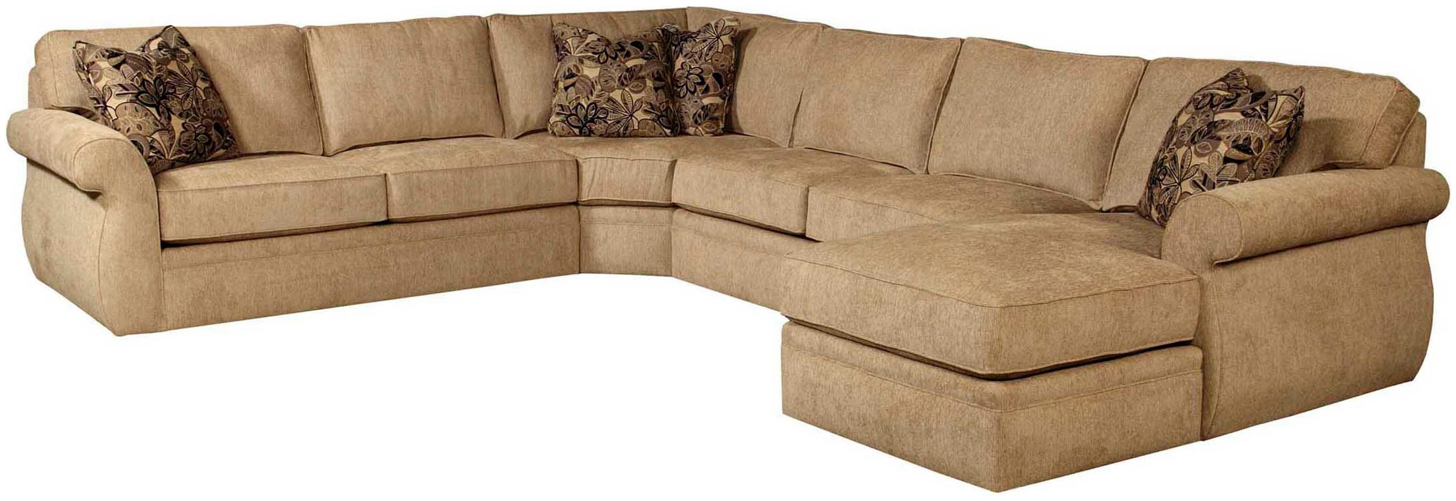 Most Recent Sectional Sofas At Broyhill Intended For Broyhill Veronica 4Pc Chaise Sectional (View 9 of 20)