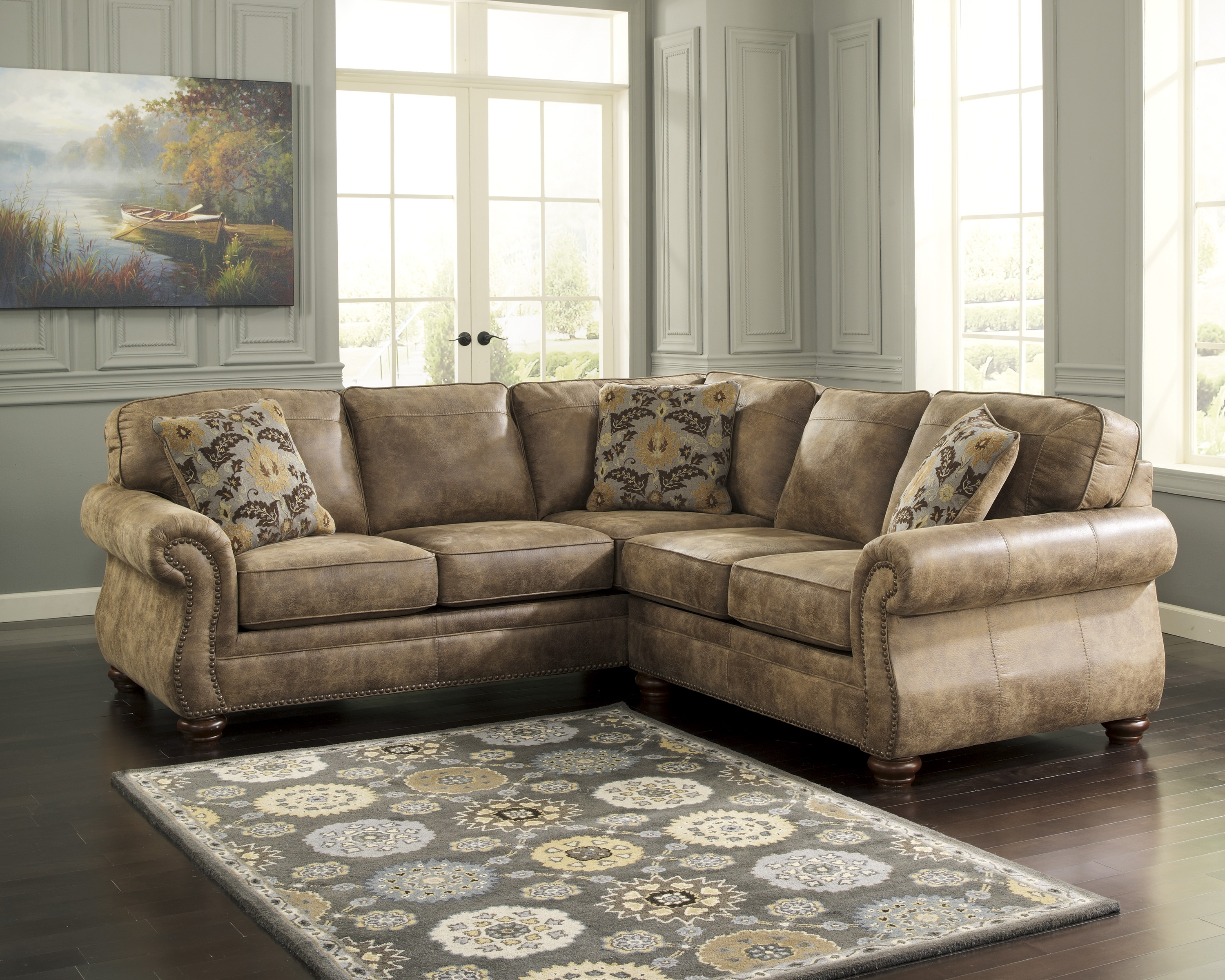 Most Recent Sectional Sofas With Nailhead Trim For Ashley Furniture Fabric Sectionals, Ashley Furniture Sofa Sleepers (View 9 of 20)