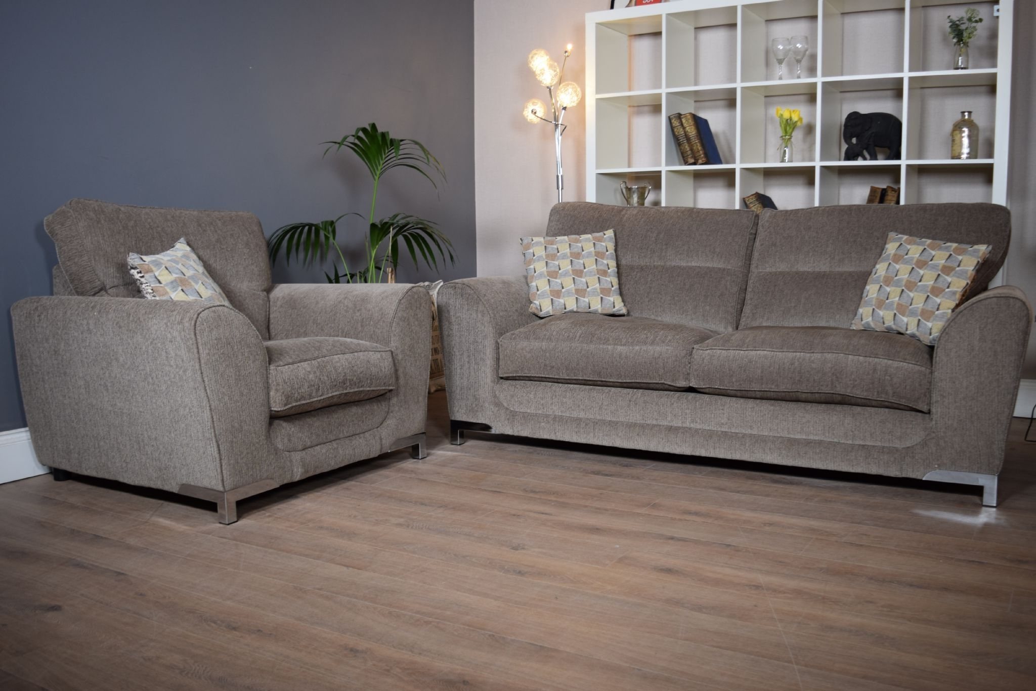 Most Recent Set Nikki 3 Seater Sofa & Cuddle Chair Suite Set – Mocha Grey With Regard To 3 Seater Sofas And Cuddle Chairs (View 14 of 20)