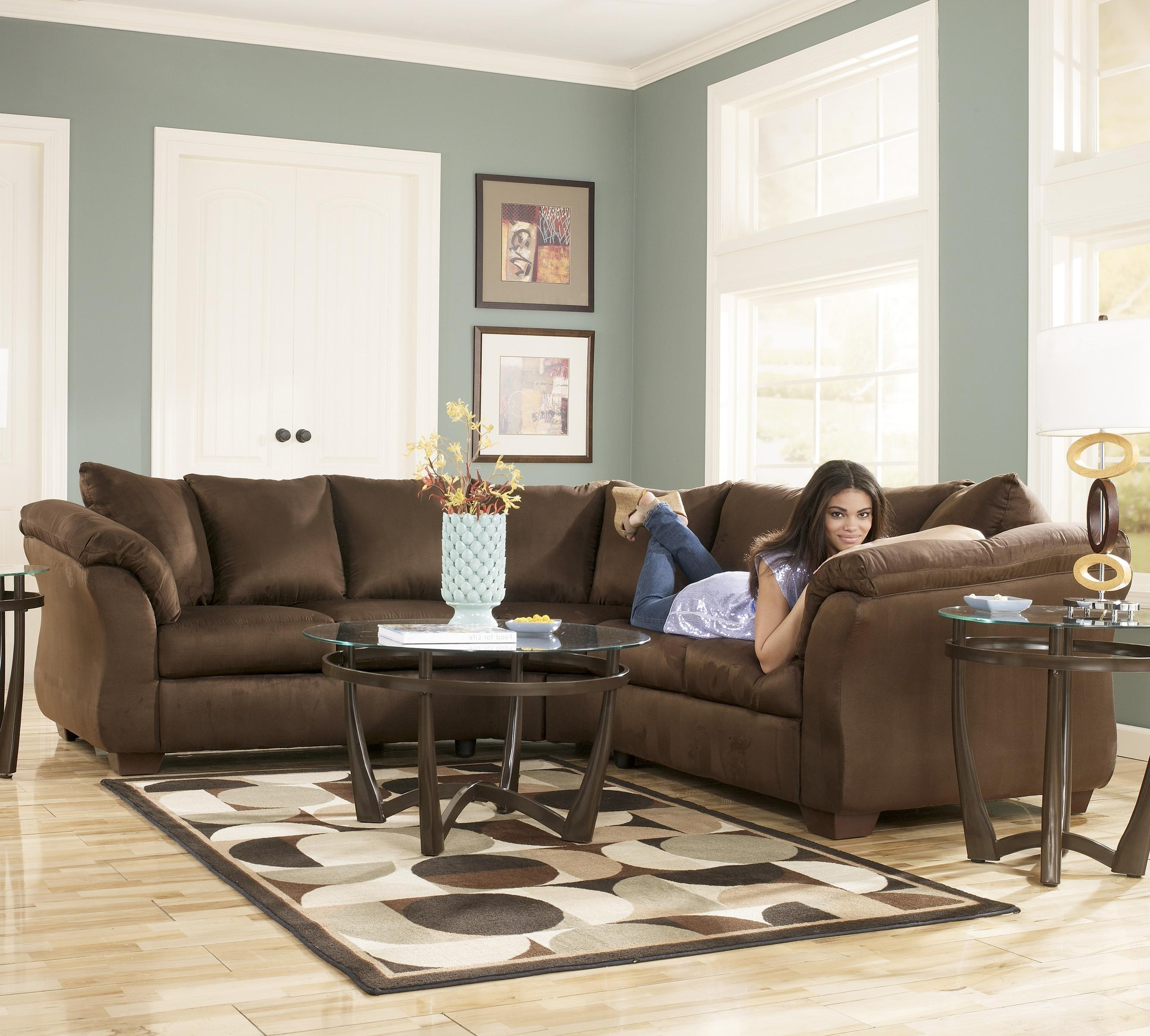 Most Recent Signature Designashley Darcy – Cafe Contemporary Sectional Throughout 102X102 Sectional Sofas (View 10 of 20)