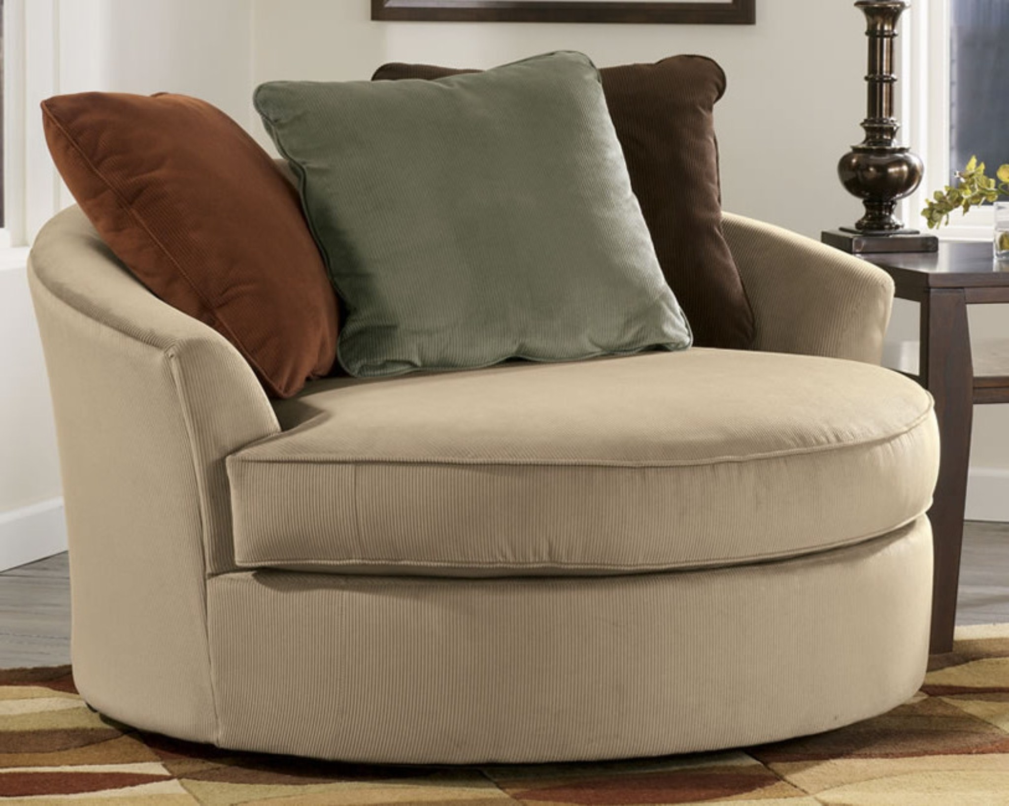 Most Recent Sofa : Luxury Round Swivel Sofa Chair Latest Large With Crescent With Round Swivel Sofa Chairs (View 2 of 20)