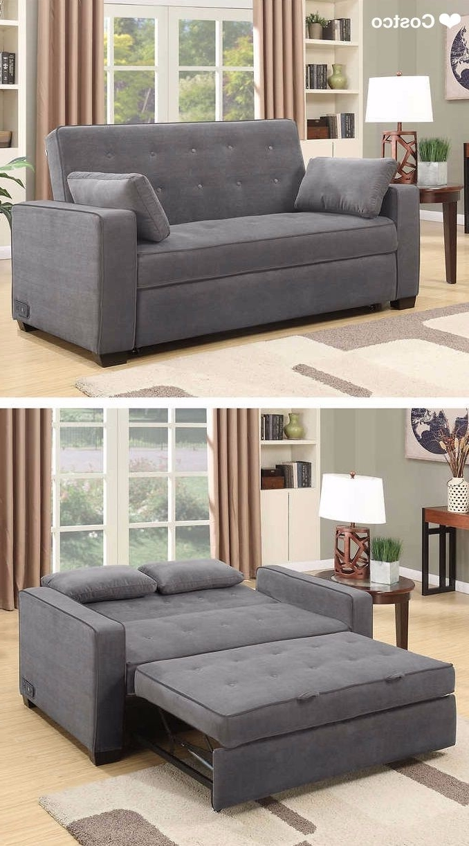 Most Recent The Westport Fabric Sleeper Sofa In Charcoal Gray Is Sure To Be A Within Queen Size Sofas (View 13 of 20)