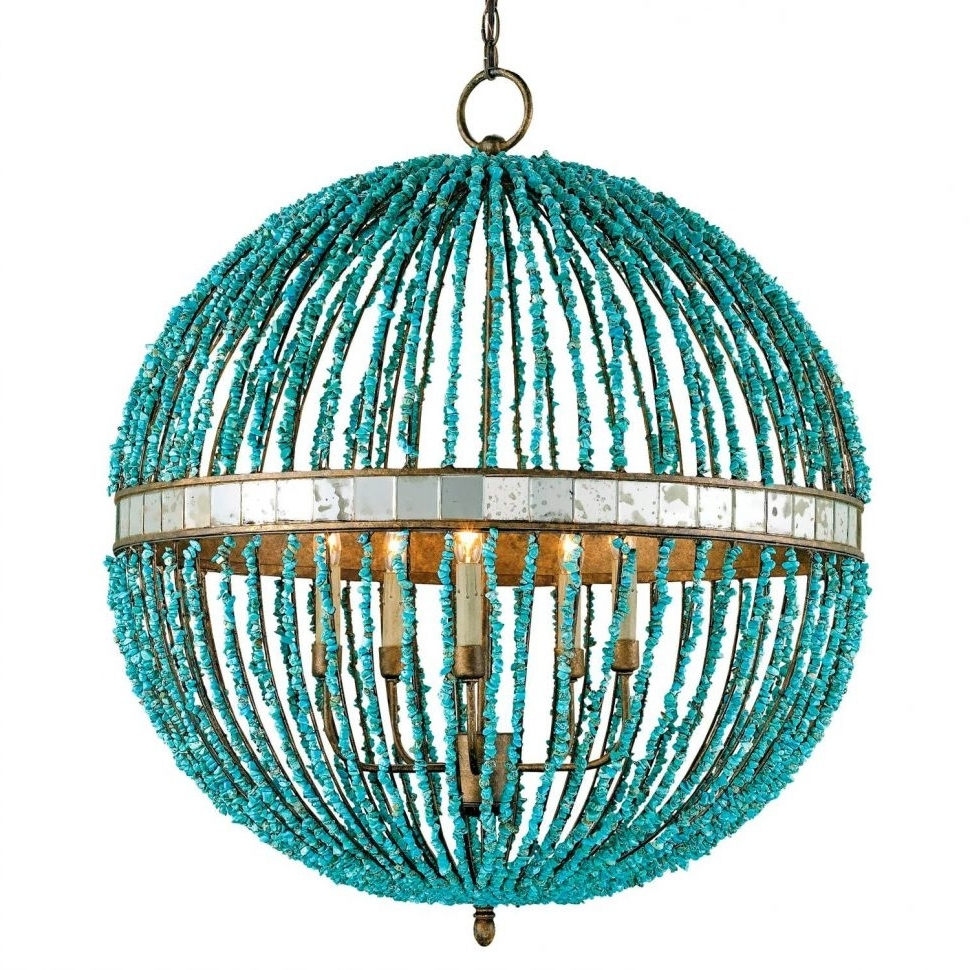 Most Recent Turquoise Wood Bead Chandeliers With Regard To Chandelier : Turquoise Beaded Chandelier Teal Beaded Chandelier (View 14 of 20)