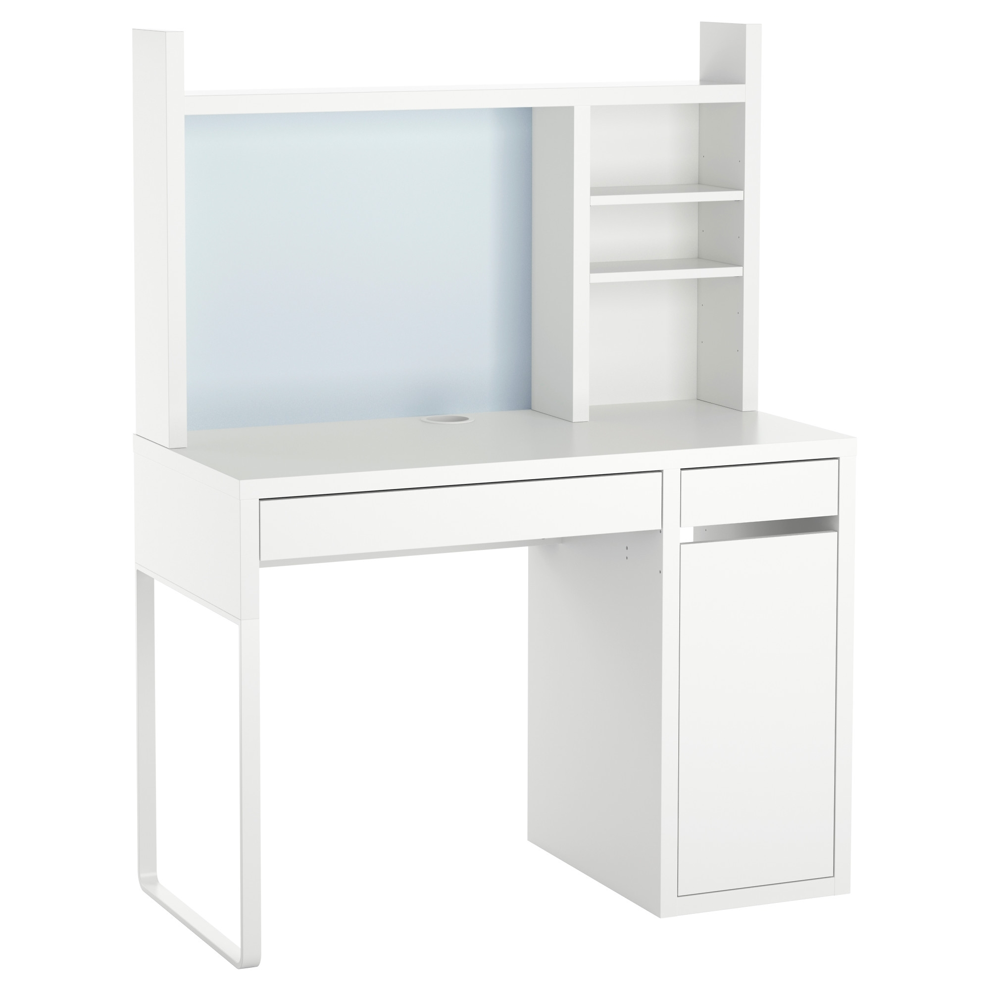 Most Recent White Computer Desks Inside Micke Computer Work Station – White – Ikea (View 11 of 20)