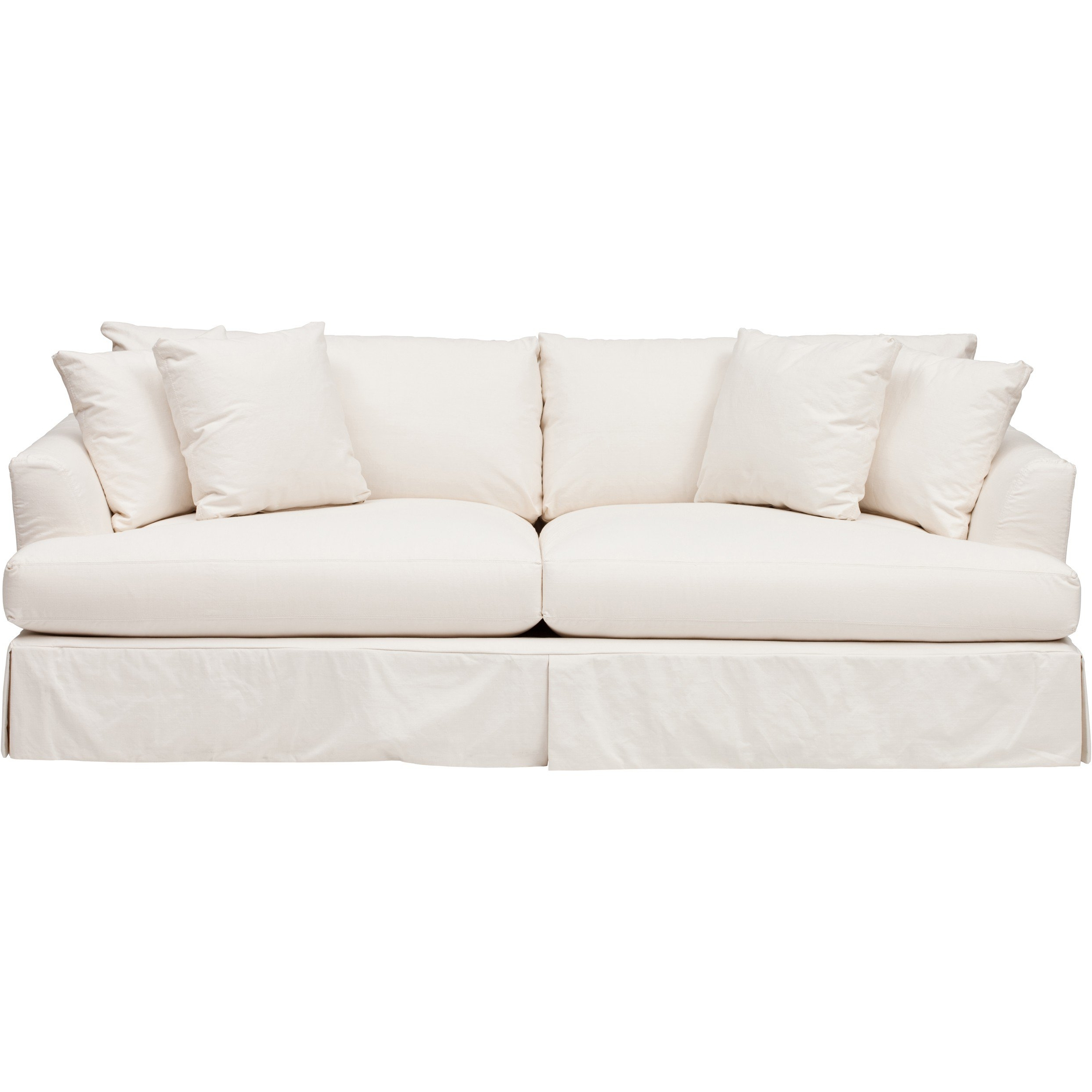 Most Recently Released Andre Slipcover Sofa, Dyno White – Sofas – Custom Upholstery With Regard To White Sofa Chairs (View 6 of 20)