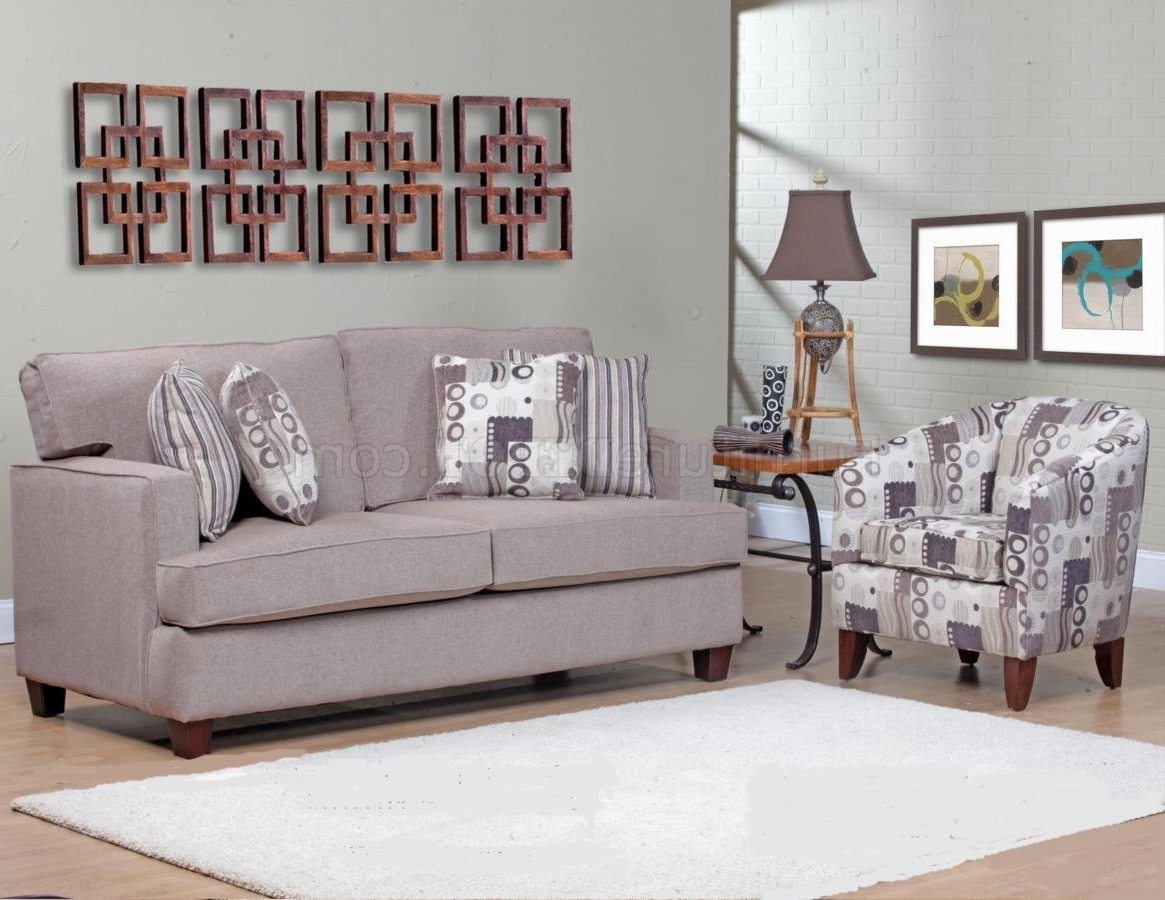 Most Recently Released Beige Fabric Modern Sofa & Accent Chair Set W/options With Sofa And Accent Chair Sets (View 7 of 20)