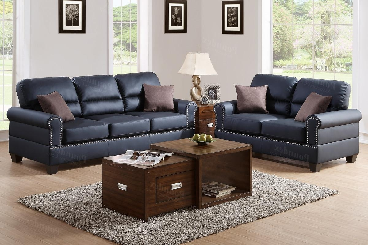 Most Recently Released Black Leather Sofa And Loveseat Set – Steal A Sofa Furniture Within Aspen Leather Sofas (View 11 of 20)