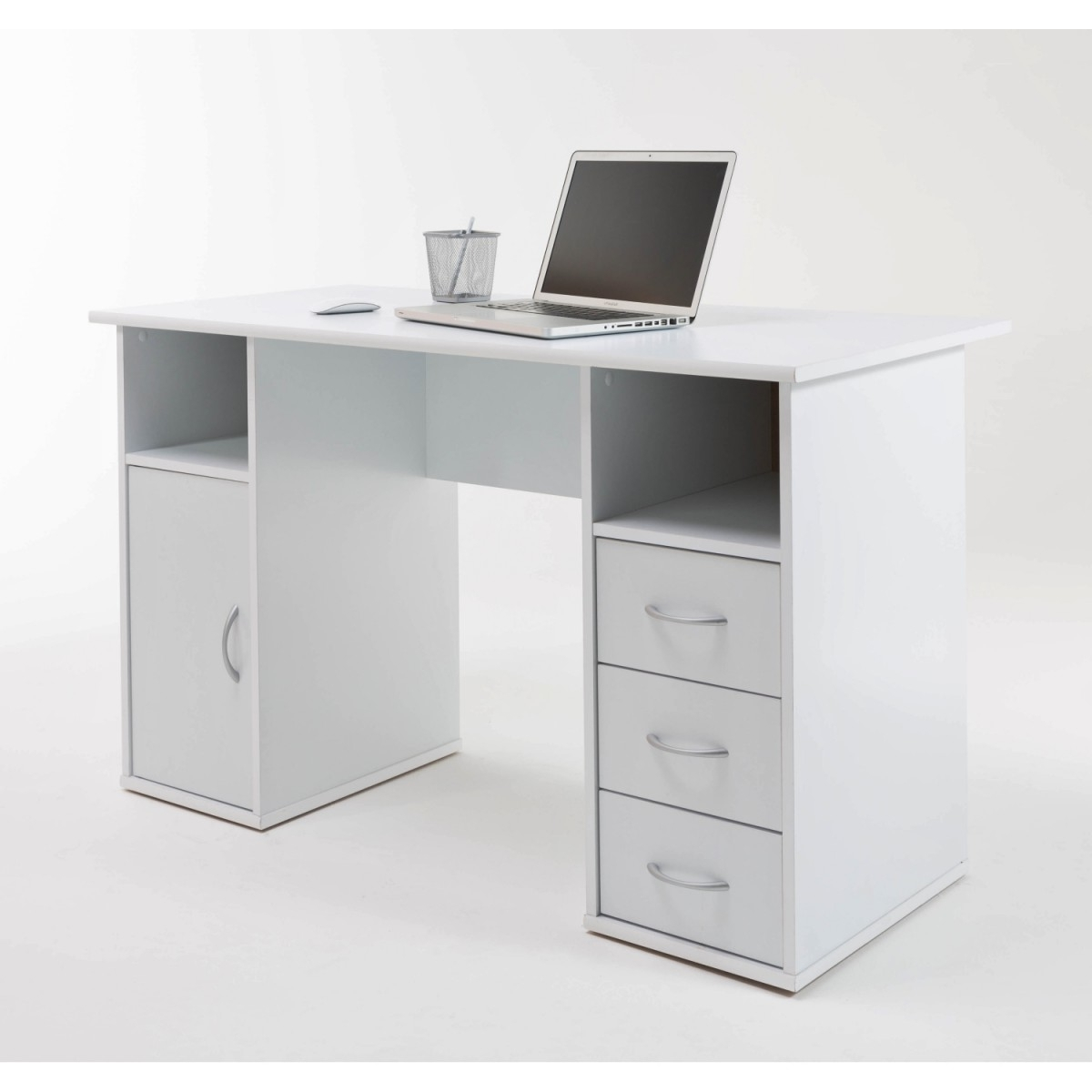 Most Recently Released Computer Desks In White Within Desks : White Long Office Desk White Glass Computer Table Modern (View 15 of 20)