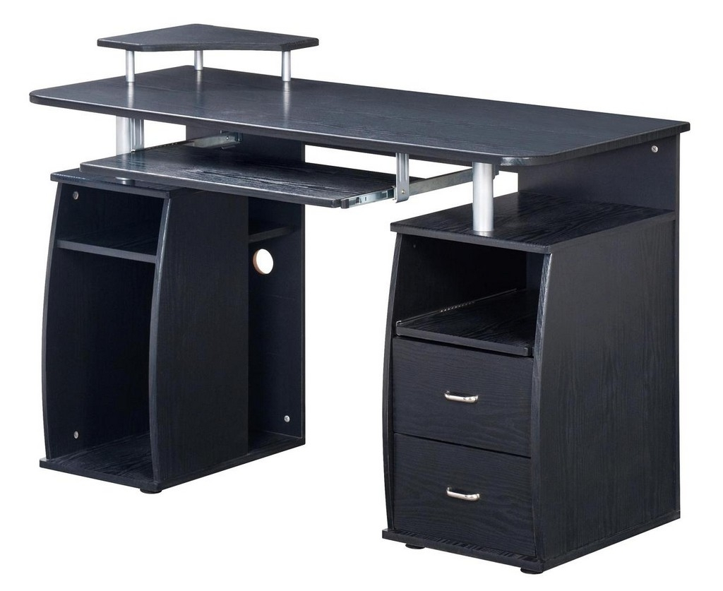 Most Recently Released Computer Desks With Doors Within Desk : Hutch Desk With Doors Corner Computer Desk With Storage (View 8 of 20)