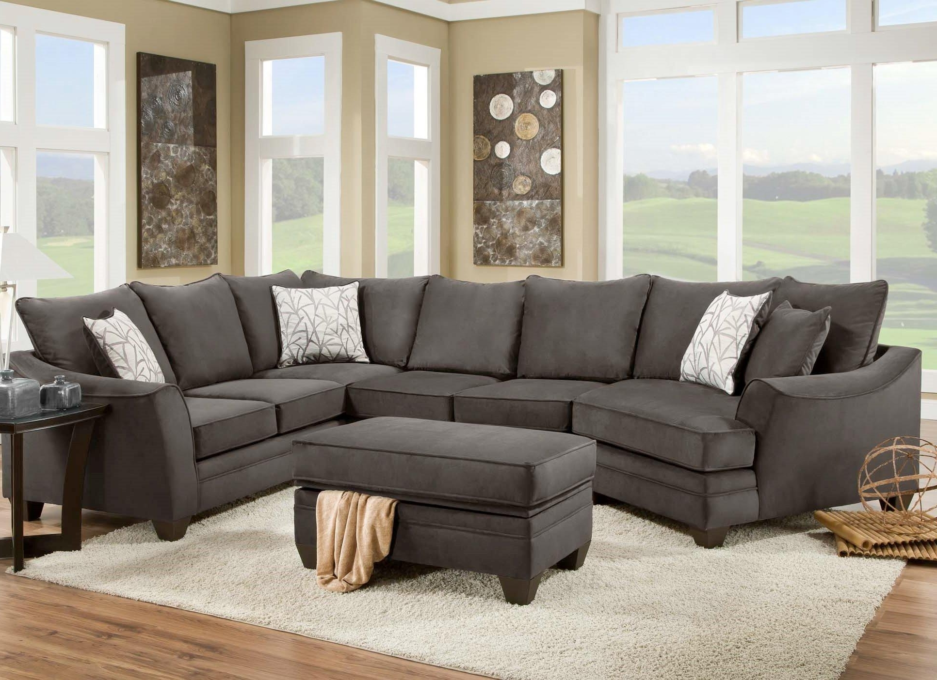 Most Recently Released Cuddler Sectional Sofas Within American Furniture 3810 Sectional Sofa That Seats 5 With Left Side (View 14 of 20)