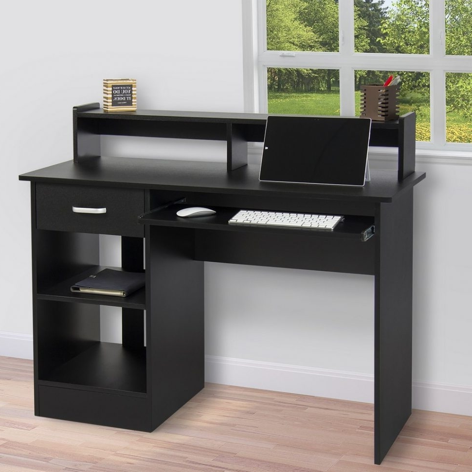 Most Recently Released Desk Desktop Computer Long Oak Office Intended For