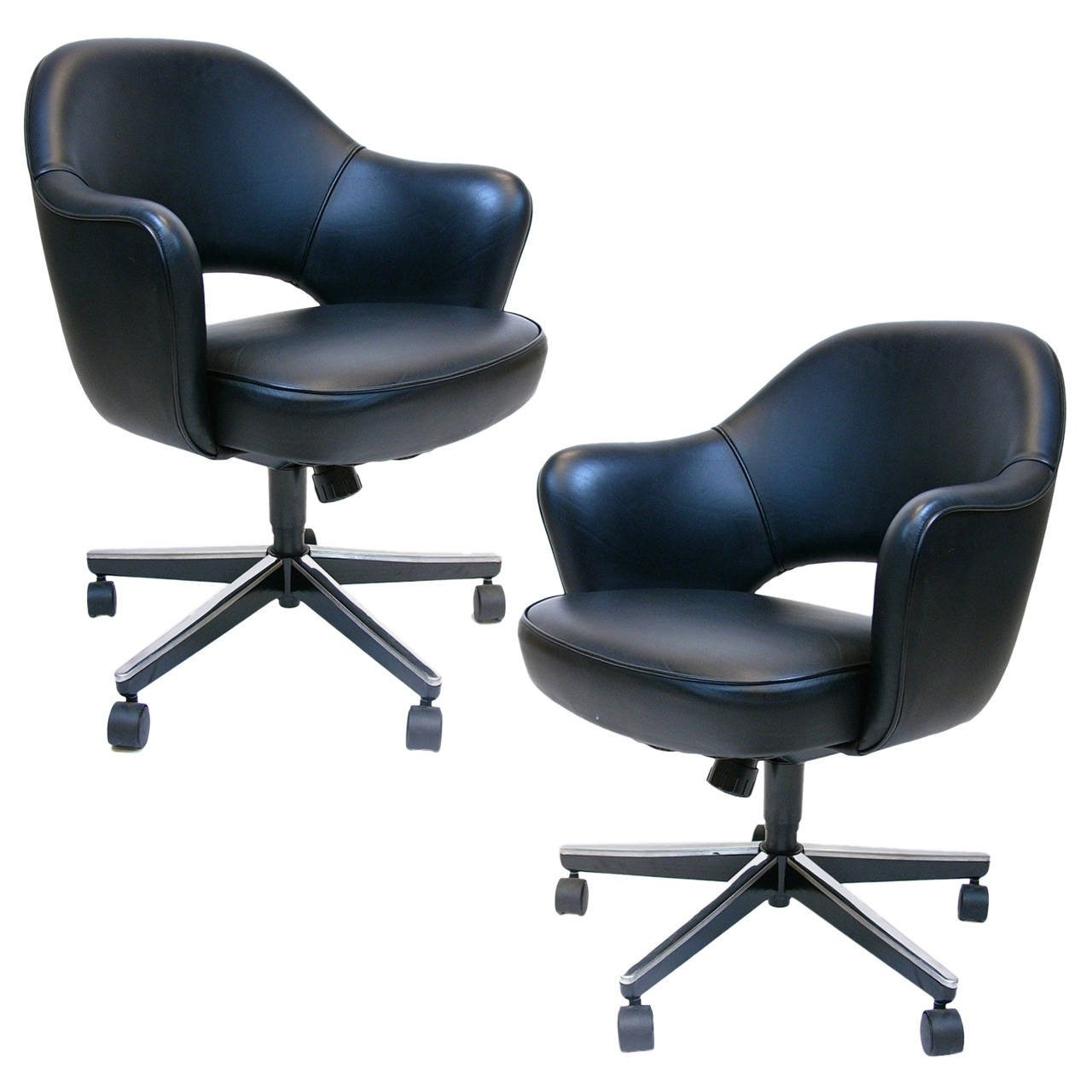 Most Recently Released Executive Office Armchairs Within Pair Of Eero Saarinen Executive Swivel Armchairs For Knoll In (View 10 of 20)