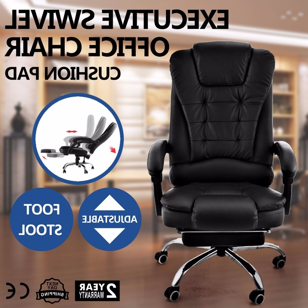Most Recently Released Executive Office Chairs Reclining Pertaining To Superland Executive Reclining Office Chair 360 Degree Swivel (View 19 of 20)