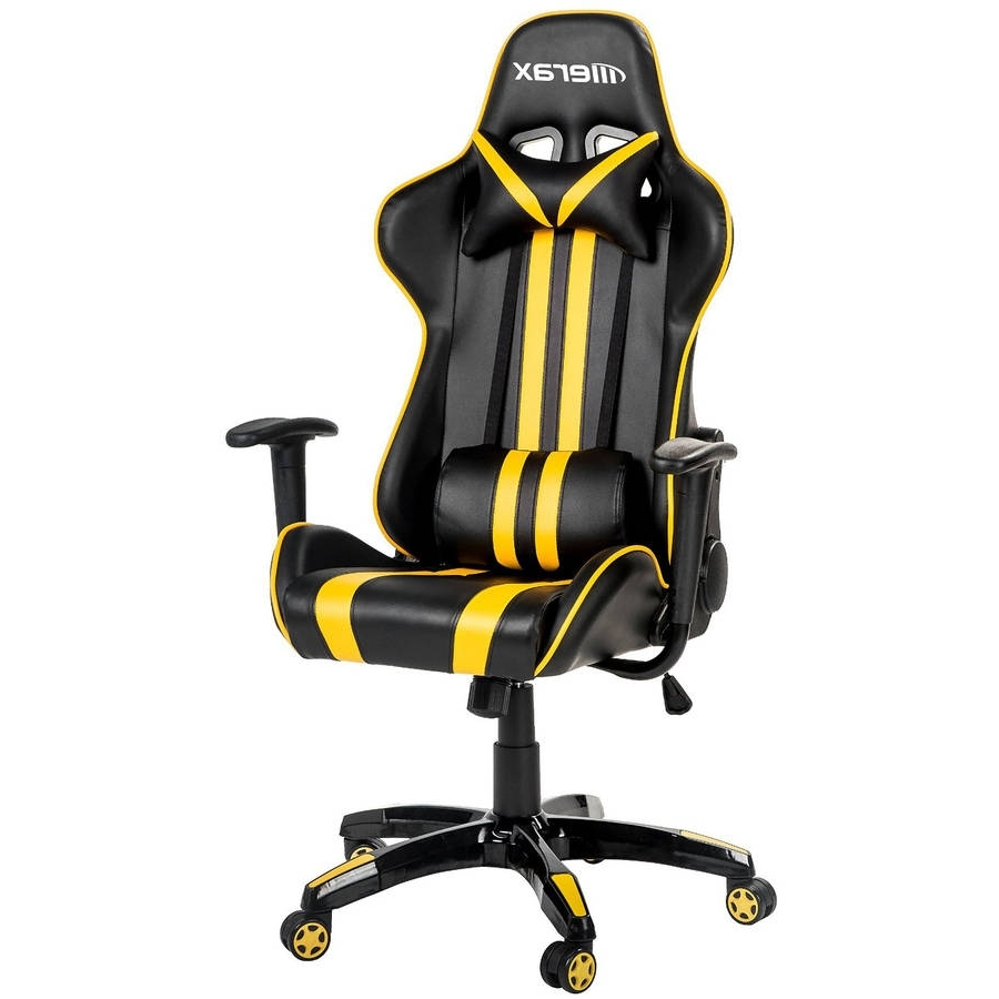 Most Recently Released Executive Office Racing Chairs Within Merax Racing Style Gaming Chair/executive Swivel Leather Office (View 14 of 20)