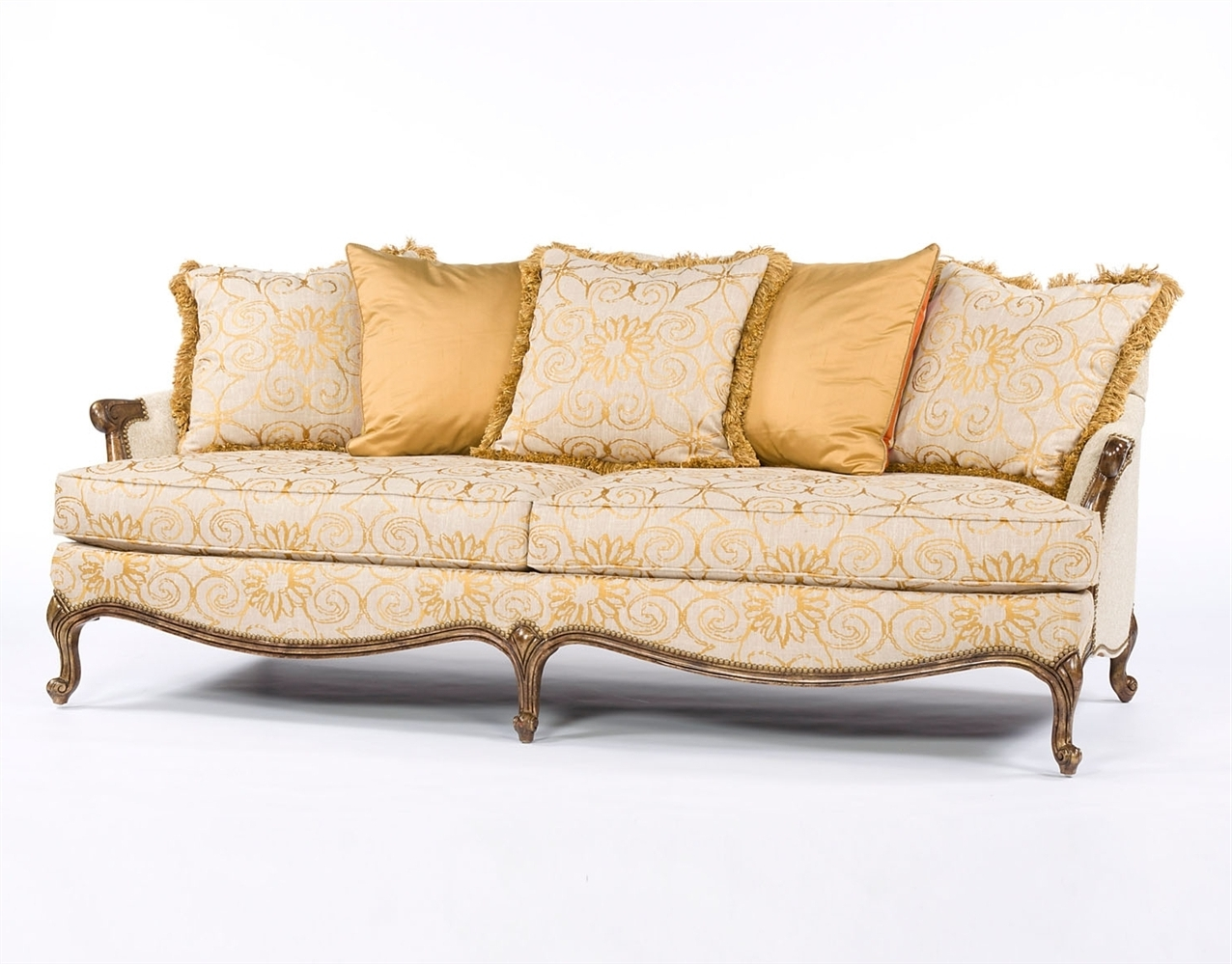 Most Recently Released French Style Sofas Regarding Mod Fabric French Style Sofa (View 4 of 20)