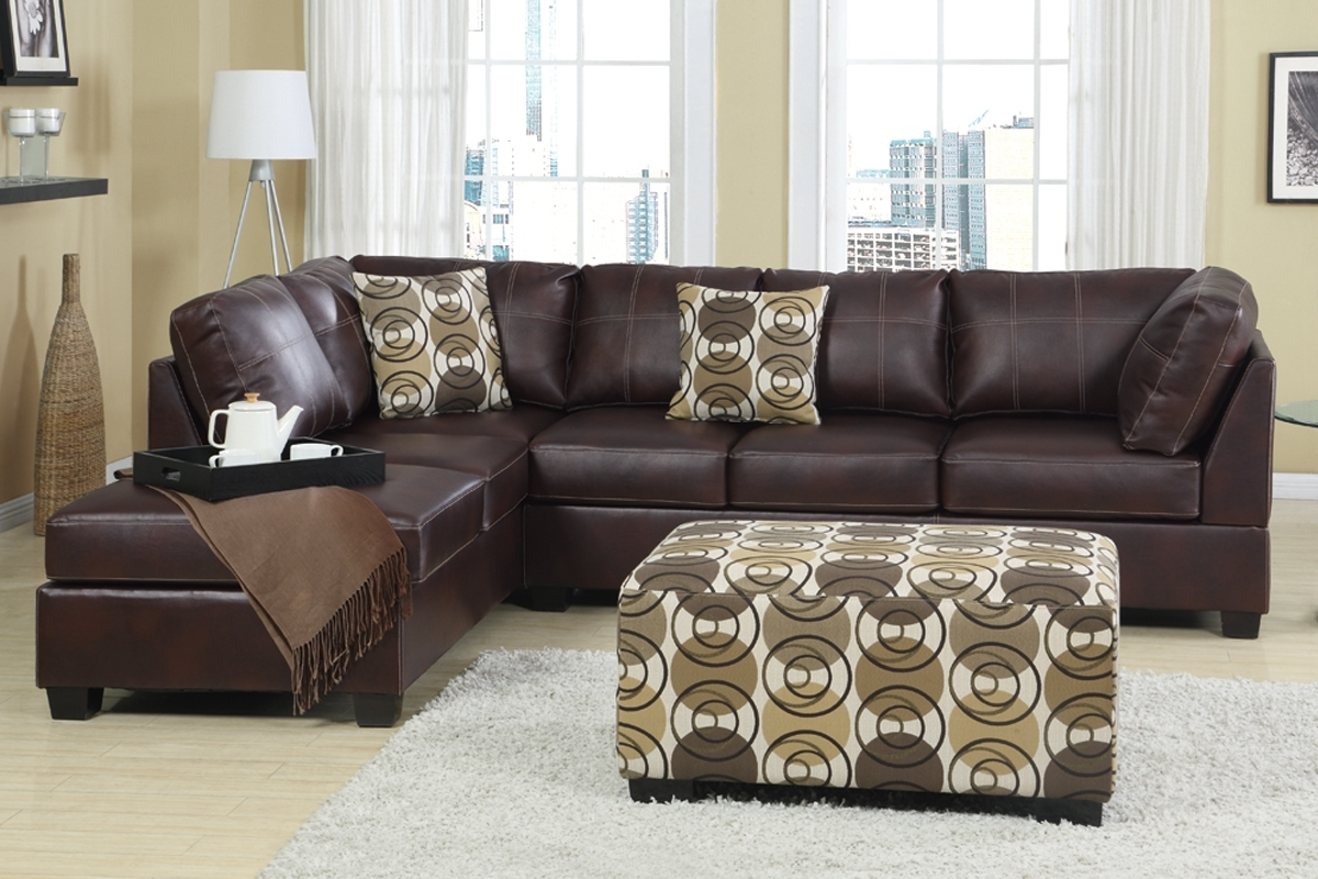 Most Recently Released Furniture: Charming Sectionals Sofas For Living Room Furniture With Regard To Red Leather Sectional Sofas With Ottoman (View 10 of 20)