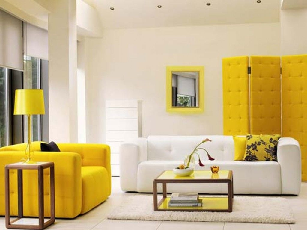 Most Recently Released Furniture: Harmonious Yellow White Sofa Sets Featured Square With Yellow Sofa Chairs (View 7 of 20)