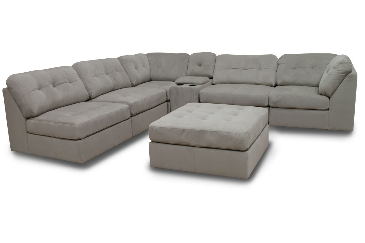 Most Recently Released Gardner White Sectional Sofas Pertaining To Hillsdale 6 Piece Microfiber Sectional With Ottoman At Gardner White (View 13 of 20)