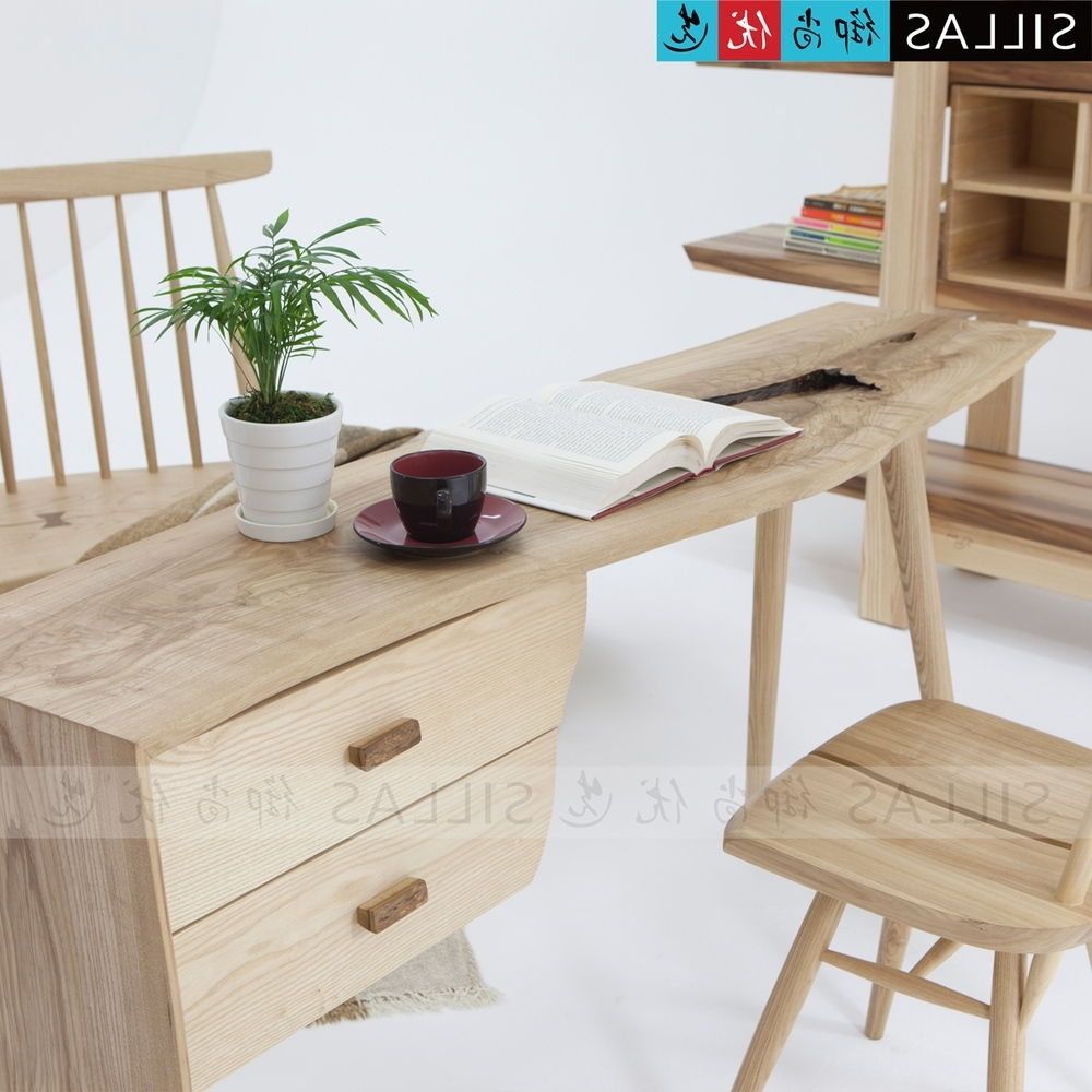 Most Recently Released George Nakashima Solid Wood Desk Minimalist Japanese Style Regarding Japanese Computer Desks (View 4 of 20)