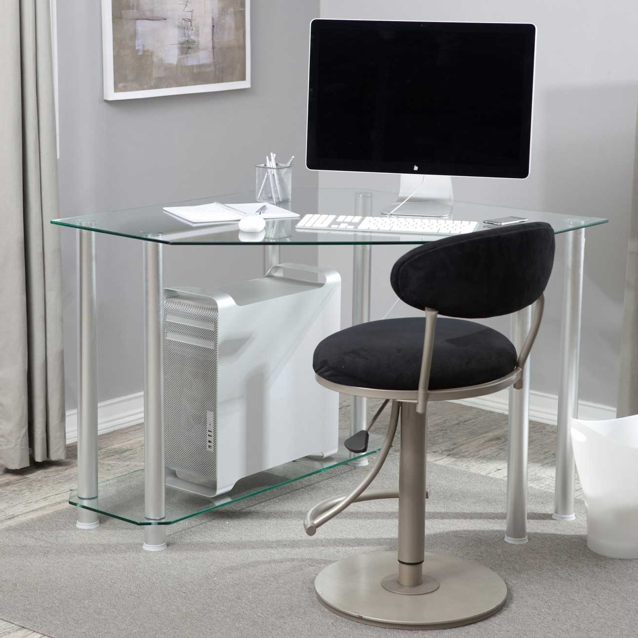 Most Recently Released Glass Corner Computer Desks With Regard To Glass Corner Desk Office – New Furniture (View 15 of 20)