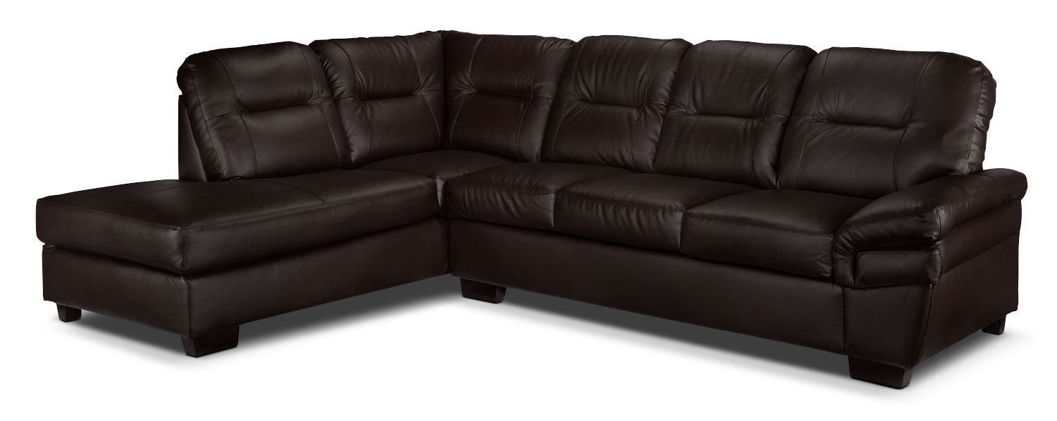 Most Recently Released Harper 2 Piece Sectional With Right Facing Chaise – Dark Chocolate In Leons Sectional Sofas (View 15 of 20)