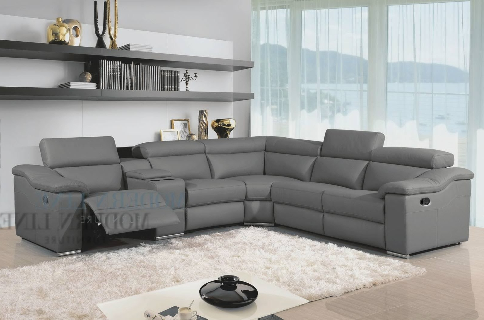 Most Recently Released Houzz Sectional Sofas With Regard To Sectional Sofa Design: Grey Leather Sectional Sofa Chaise (View 16 of 20)