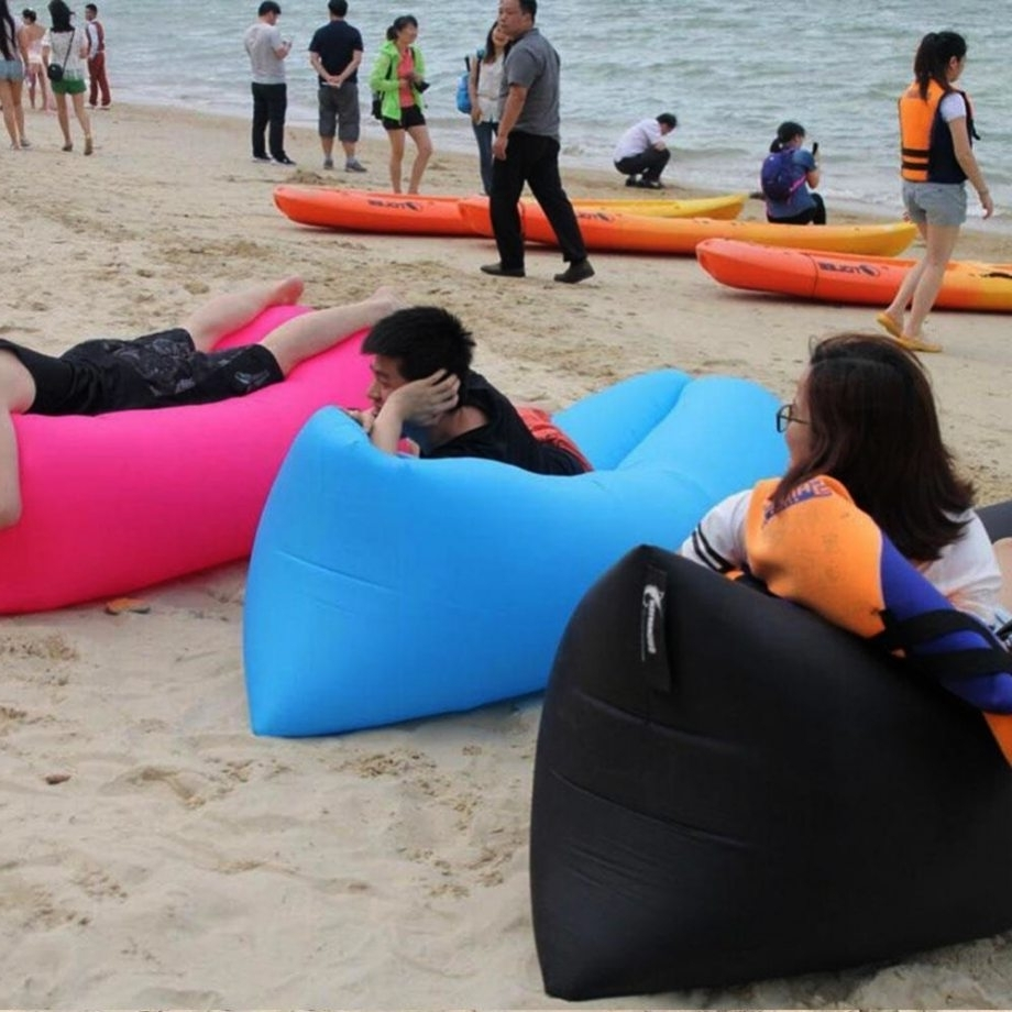 Most Recently Released Inflatable Sofas And Chairs With Lounge Sleep Bag Lazy Inflatable Beanbag Sofa Chair, Living Room (View 6 of 20)