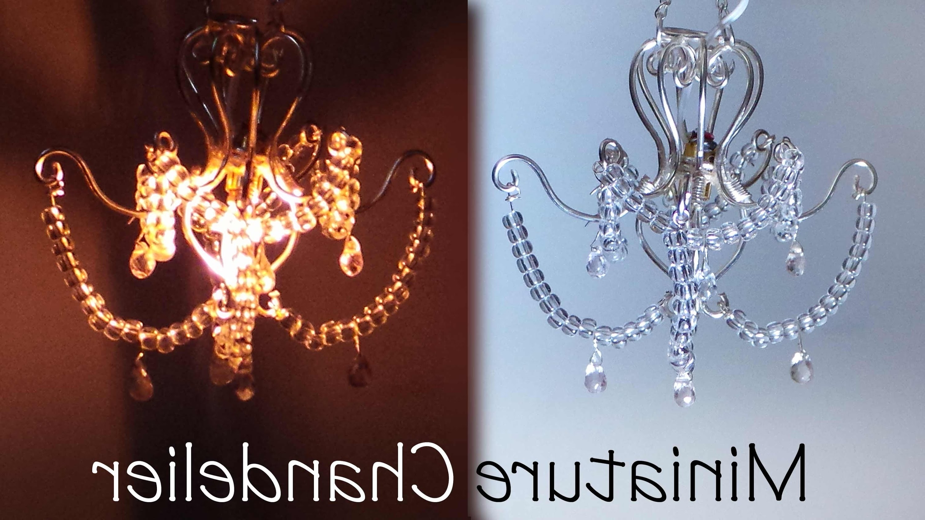 Most Recently Released Miniature Chandelier Tutorial (That Lights Up) – Youtube With Regard To Tiny Chandeliers (View 10 of 20)