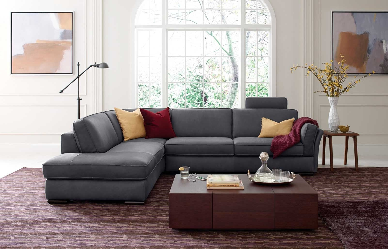 Most Recently Released Natuzzi Sectional Sofas Pertaining To Natuzzi Editions Trieste Ii 117 Italian Tanned Leather Sectional (View 19 of 20)