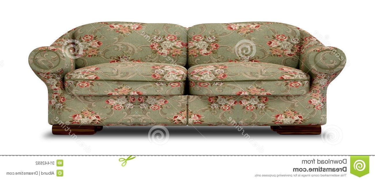 Most Recently Released Old Fashioned Sofas With Regard To Old Floral Sofa Front Stock Illustration (View 9 of 20)