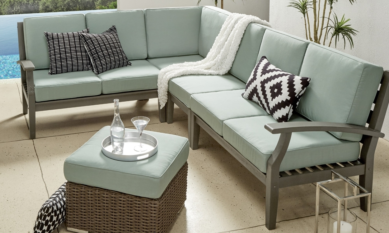 Most Recently Released Patio Sofas With How To Choose Patio Furniture For Small Spaces – Overstock (View 18 of 20)