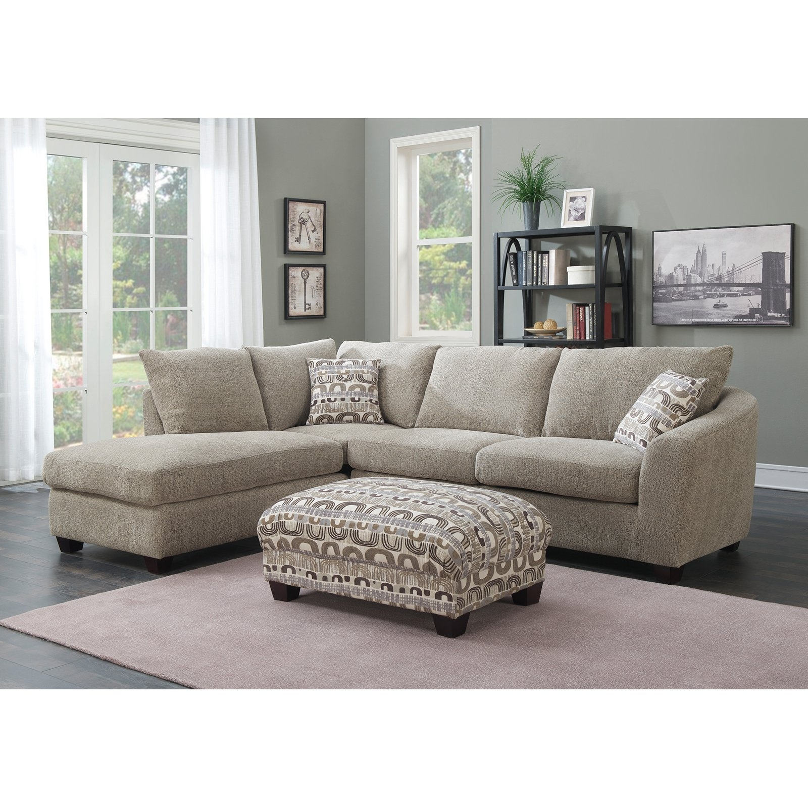 Most Recently Released Quebec Sectional Sofas With Regard To Off Agata Light Grey Sectional Sofas Gray Sofa Modern Fabric (View 8 of 20)