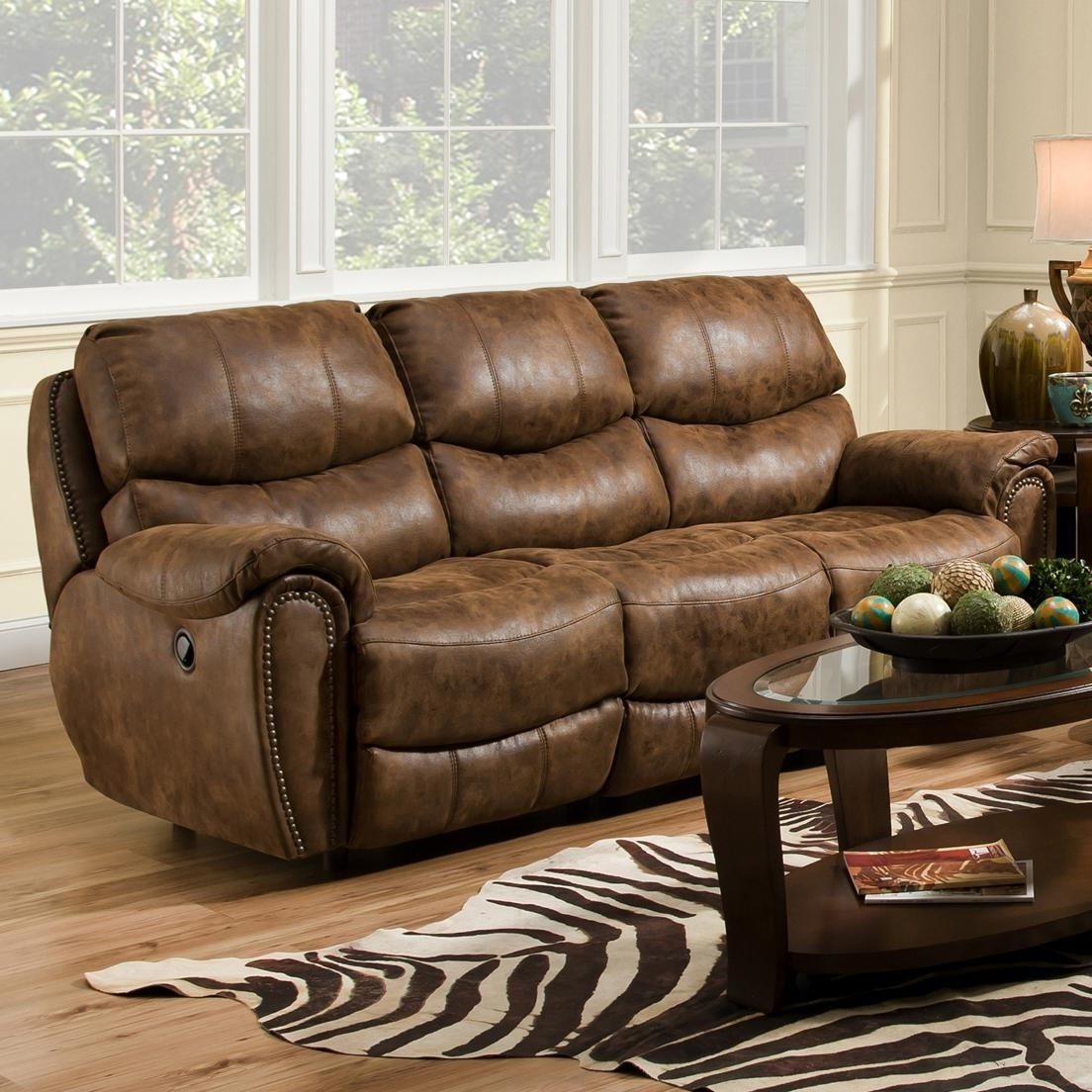 Most Recently Released Reclining Sofa With Nail Head Trim – Richmondfranklin – Wilcox With Richmond Sofas (View 8 of 20)