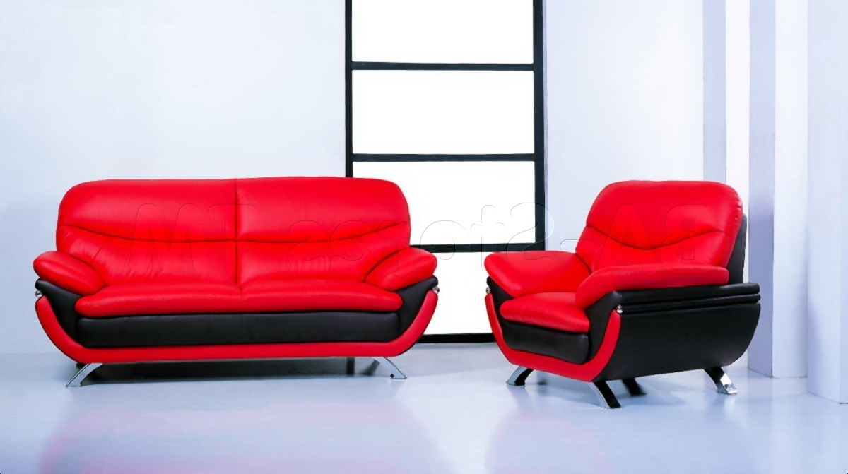 Most Recently Released Red Leather Sofas For Jonus 3 Pc Sofa Set (View 6 of 20)
