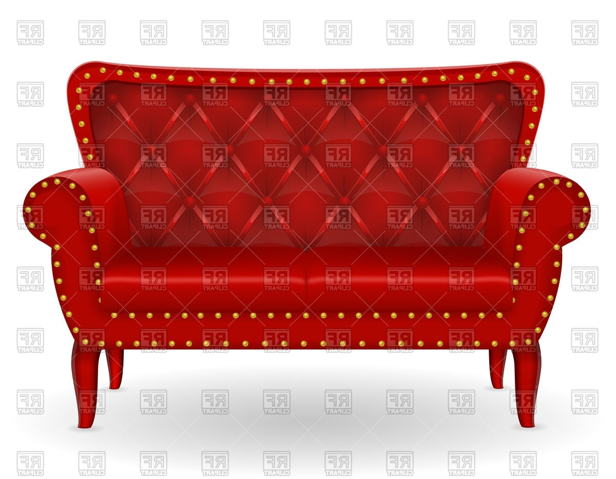 Most Recently Released Red Sofa Chairs Within Old Red Sofa Royalty Free Vector Clip Art Image #94569 – Rfclipart (View 6 of 20)