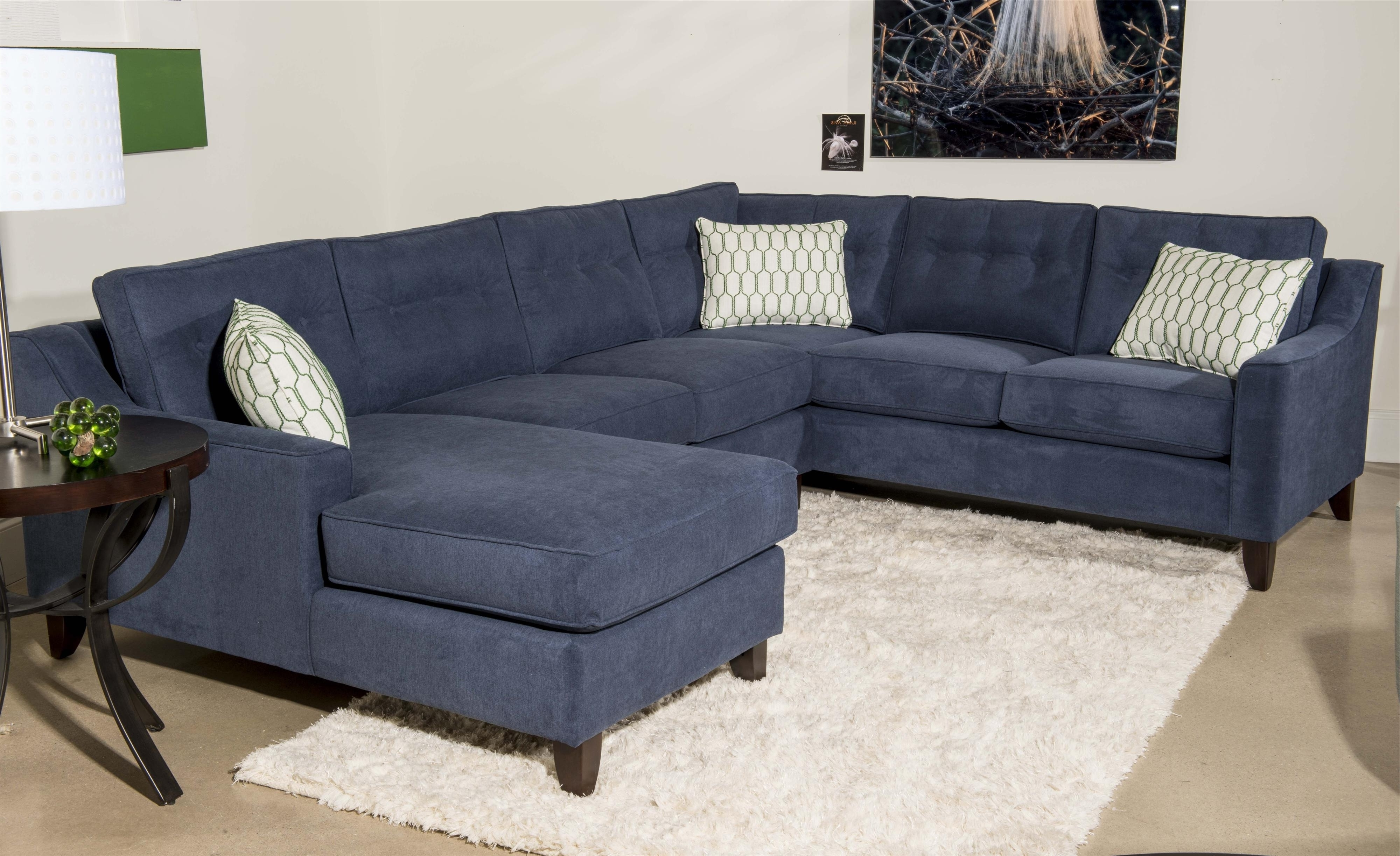 Most Recently Released Sectional Couch With Recliner U Shaped Sectional Tan Sectional Within Blue U Shaped Sectionals (View 10 of 20)