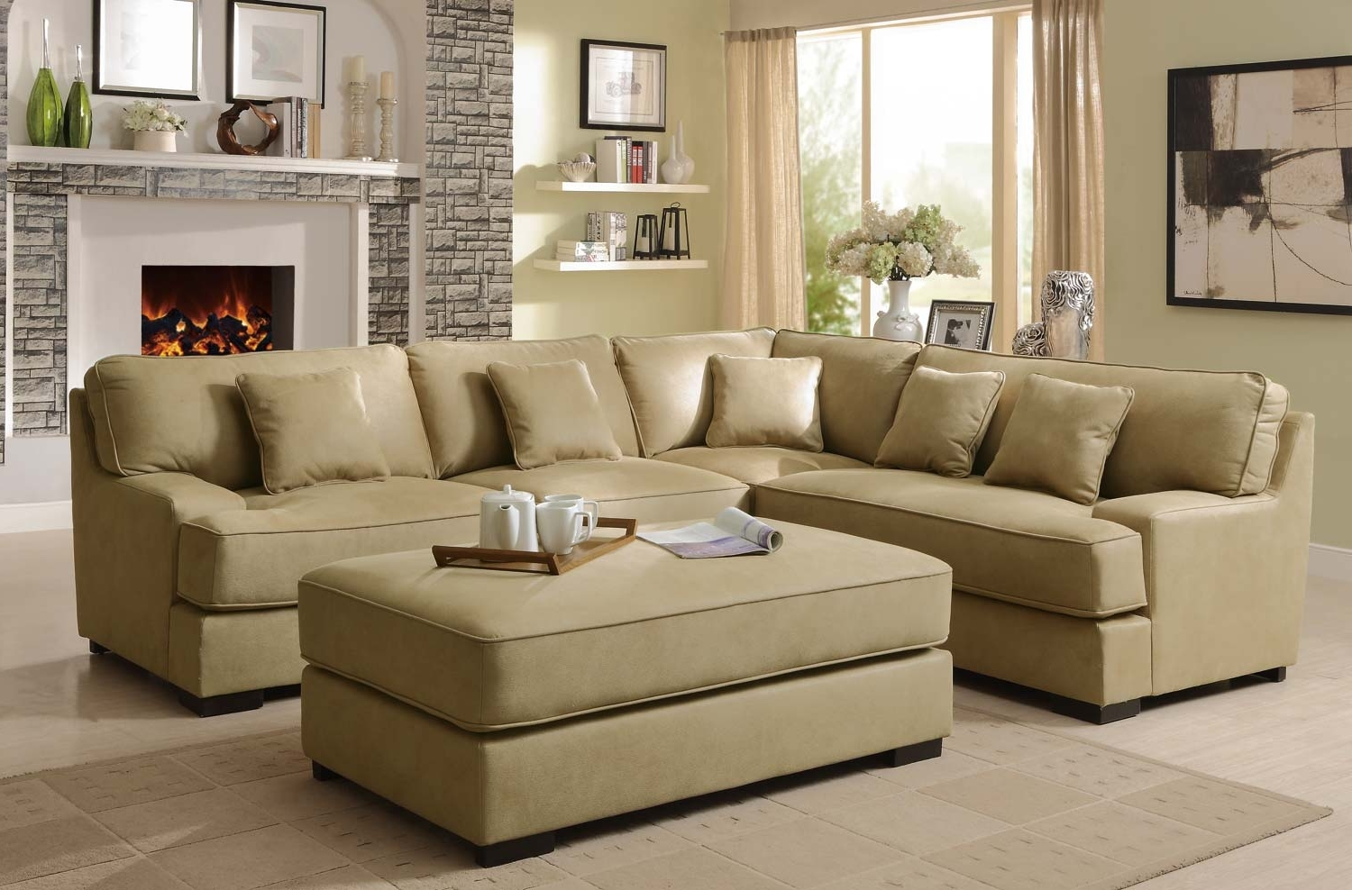 Most Recently Released Sectional Sofa Design: Amazing Beige Sectional Sofas Beige Leather Intended For Beige Sectional Sofas (View 16 of 20)