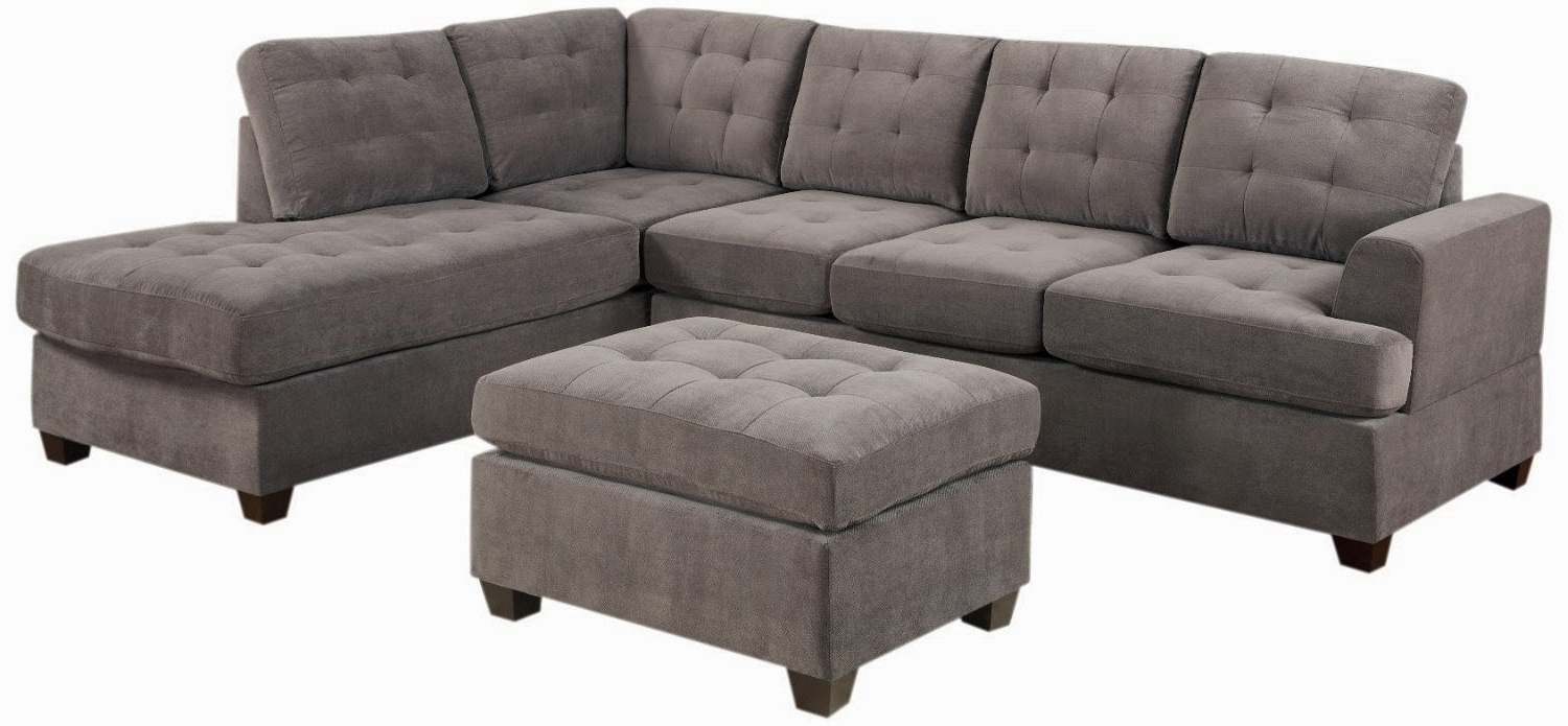 Most Recently Released Sectional Sofas At Amazon Regarding Awesome Grey Microfiber Sectional Sofa Photos – Liltigertoo (View 11 of 20)